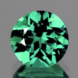 7.80 mm Round { 1.81 cts} AAA Fire Paraiba Blue Green Apatite (Flawless-VVS)--AAA Grade
