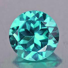 8.20 mm Round { 1.97 cts} AAA Fire Paraiba Green Blue Apatite (Flawless-VVS)--AAA Grade
