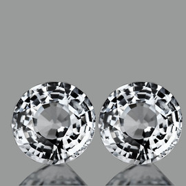 3.50 mm 2 pcs Round White Sapphire Natural {Flawless-VVS1}