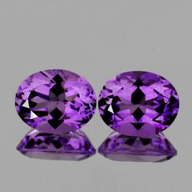 11x9 mm 2 pcs Oval AAA Purple Amethyst Natural {Flawless-VVS}