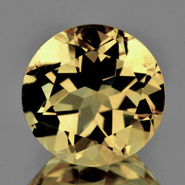 9.00 mm Round AAA Fire Golden Yellow Citrine Natural {Flawless-VVS1}