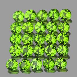 3.00 mm 25 pcs Round AAA Green Peridot Natural {Flawless-VVS1}