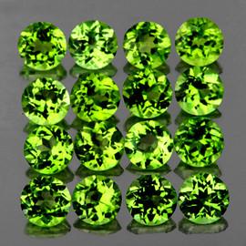 3.50 mm 16 pcs Round AAA Fire AAA Green Peridot Natural {Flawless-VVS1}