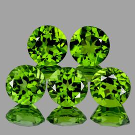 6.00 mm 5 pcs Round AAA Green Peridot Natural {Flawless-VVS1}