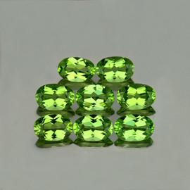 6x4 mm 8 pcs Oval AAA Green Peridot Natural {Flawless-VVS1}