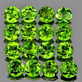 2.50 mm 40 pcs Round  Brilliant Luster  Green Peridot Natural {Flawless-VVS1}