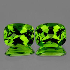 8x6 mm 2 pcs Rectangle AAA Green Peridot Natural {Flawless-VVS}
