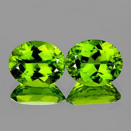 11x9 mm 2 pcs Oval Best AAA Green Peridot Natural {Flawless-VVS}