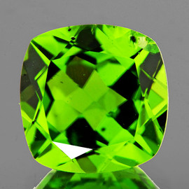 8.00 mm Cushion AAA Green Peridot Natural {Flawless-VVS}