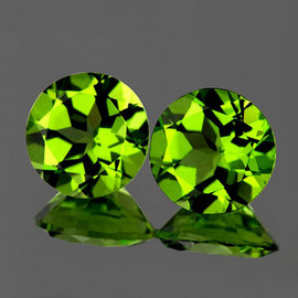 9.00 mm 2 pcs Round AAA Fire AAA Green Peridot Natural {Flawless-VVS}--AAA Grade