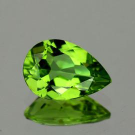 11x8 mm {2.54 cts} Pear AAA Green Peridot Natural {Flawless-VVS1}