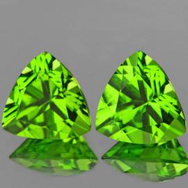 6.00 mm 2 pcs Trilliant Best AAA Fire AAA Green Peridot Natural {Flawless-VVS1}