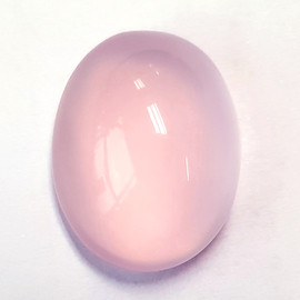 21.65 cts Oval Cabochon 20x15 mm AAA Pastel Pink Rose Quartz Natural {Flawless-VVS}