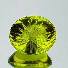 22x19 mm Oval {32.46 cts} AAA Green Gold Lemon Quartz Natural {Flawless-VVS1}--AAA Grade
