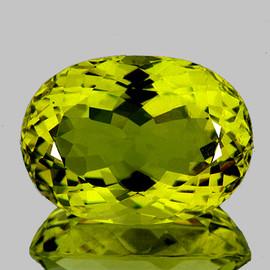 26x19 mm Oval {39.33 cts} AAA Green Gold Lemon Quartz Natural (Flawless-VVS1)