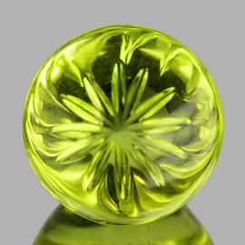 18.00 mm Round {22.55 cts} AAA Green Gold Lemon Quartz Natural {Flawless-VVS1}--AAA Grade