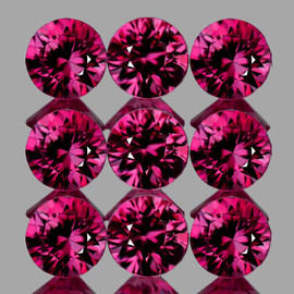 2.70 mm 9 pcs Round Best AAA Premium Red Mozambique Ruby Natural (Unheated) {Flawless-VVS}--AAA Grade