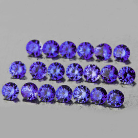 2.20 mm 20 pcs Round AAA Premium Violet Blue Sapphire Natural (Unheated) {Flawless-VVS}--AAA Grade