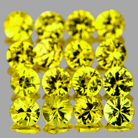 1.80 mm 30 pcs Round Brilliant Machine Cut Best AAA Canary Yellow Sapphire Natural {Flawless-VVS1}