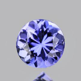 4.00 mm Round AAA Fire Purple Blue Tanzanite Natural {Flawless-VVS1}