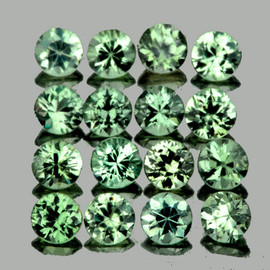 1.80 mm 30 pcs Round Machine Cut AAA Green Sapphire Natural {Flawless-VVS}