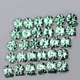 1.80 mm 30 pcs Round Machine Cut Blue Green Sapphire Natural {Flawless-VVS}