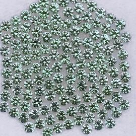 1.30 mm 80 pcs Round Machine Cut Blue Green Sapphire Natural {Flawless-VVS}