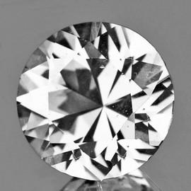 5.00 mm Round Diamond Cut White Zircon Natural {Flawless-VVS1}