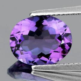 9x7 mm Oval AAA Fire Purple Amethyst Natural {Flawless-VVS1}