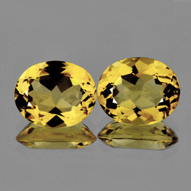 11x9 mm 2 pcs Oval Natural AAA Fire Golden Yellow Citrine {Flawless-VVS1}