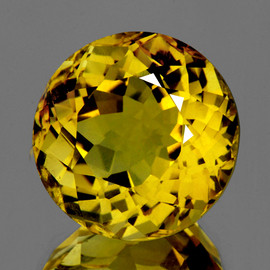 17.50 mm {19.90 cts} Round Best AAA Fire AAA Golden Yellow Citrine Natural (Flawless-VVS1}