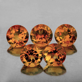 6.00 mm 5 pcs Round Top Champagne Imperial Topaz Natural {Flawless-VVS1}