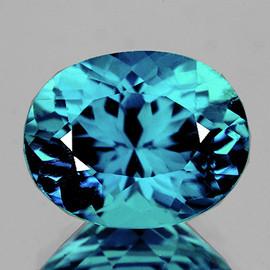 8x6.5 mm {2.60 cts} Oval Best AAA Fire AAA Seafoam Blue Zircon Natural {Flawless-VVS1}