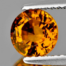 6.30 mm Round  {1.02 cts} AAA Vivid Yellow Tourmaline Mozambique Natural {Flawless-VVS1}