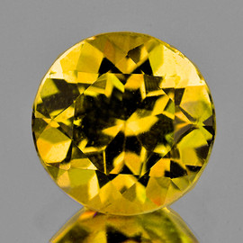 8.50 mm {2.03 cts} Round AAA Fire Intense AAA Golden Yellow Beryl 'Heliodor' Natural {Flawless-VVS1}