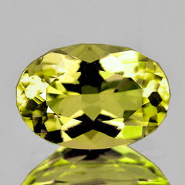 7x5 mm Oval Intense AAA Yellow Beryl 'Heliodor' Natural {Flawless-VVS1}