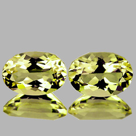 7x5 mm 2 pcs {1.40 cts} Oval Best AAA Fire Yellow Beryl 'Heliodor' Natural {Flawless-VVS1}