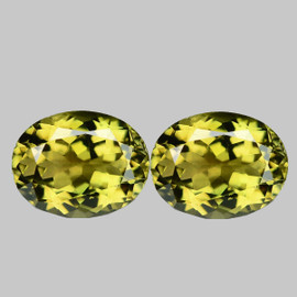 8x6 mm 2 pcs  Oval AAA Fire AAA Yellow Beryl 'Heliodor' Natural {Flawless-VVS1}