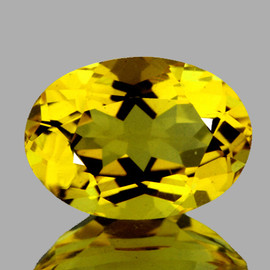 8x6 mm {1.14 cts} Oval Intense AAA Yellow Beryl 'Heliodor' Natural {Flawless-VVS1}