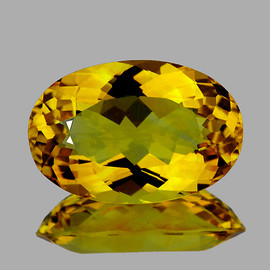 9x6 mm {1.40 cts} Oval Intense AAA Yellow Beryl 'Heliodor' Natural {Flawless-VVS1}