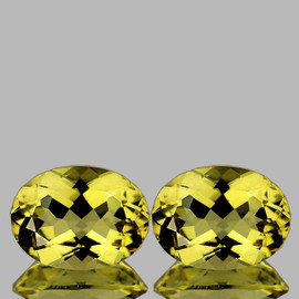 9x7 mm 2 pcs {3.30 cts} Oval Best AAA Fire AAA Yellow Beryl 'Heliodor' Natural {Flawless-VVS1}