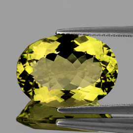 11x9 mm {1.90 cts} Oval Yellow Beryl 'Heliodor' Natural {Flawless-VVS1}