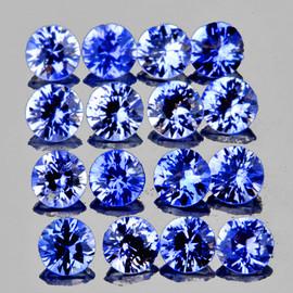 2.00 mm 25 pcs Round Machine Cut Best AAA Fire Ceylon Blue Sapphire Natural {Flawless-VVS}