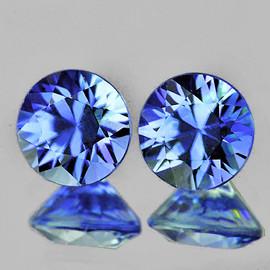 3.80 mm 2 pcs Round Machine Cut AAA Ceylon Blue Sapphire Natural {Flawless-VVS}--AAA Grade