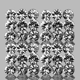 2.00 mm 50 pcs Round Brilliant Machine Cut AAA Diamond White Topaz Natural {Flawless-VVS1}--AAA Grade