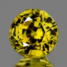 5.30 mm { 0.83 cts} Round AAA Fire Intense AAA Yellow Mali Garnet Natural {VVS}