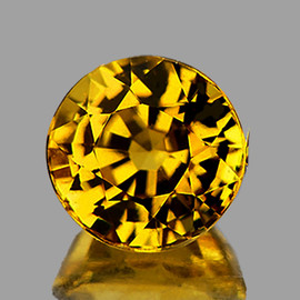 5.20 mm { 0.74 cts} Round AAA Fire Intense AAA Yellow Mali Garnet Natural {Flawless-VVS}