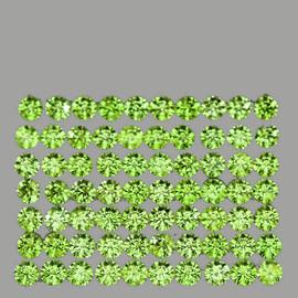 2.00 mm 80 pcs Round Brilliant Cut Best AAA Fire Green Peridot Natural {Flawless-VVS1}