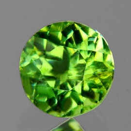 2.80 mm Round AAA Fire Natural Green Demantoid {Horse Tail Inclusion)