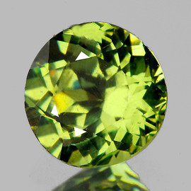 3.50 mm Round AAA Fire Natural Yellow Green Demantoid {Horse Tail Inclusion)